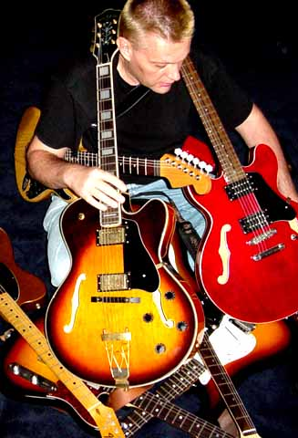 me and my guitars
